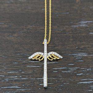 JTV Winged Cross Necklace